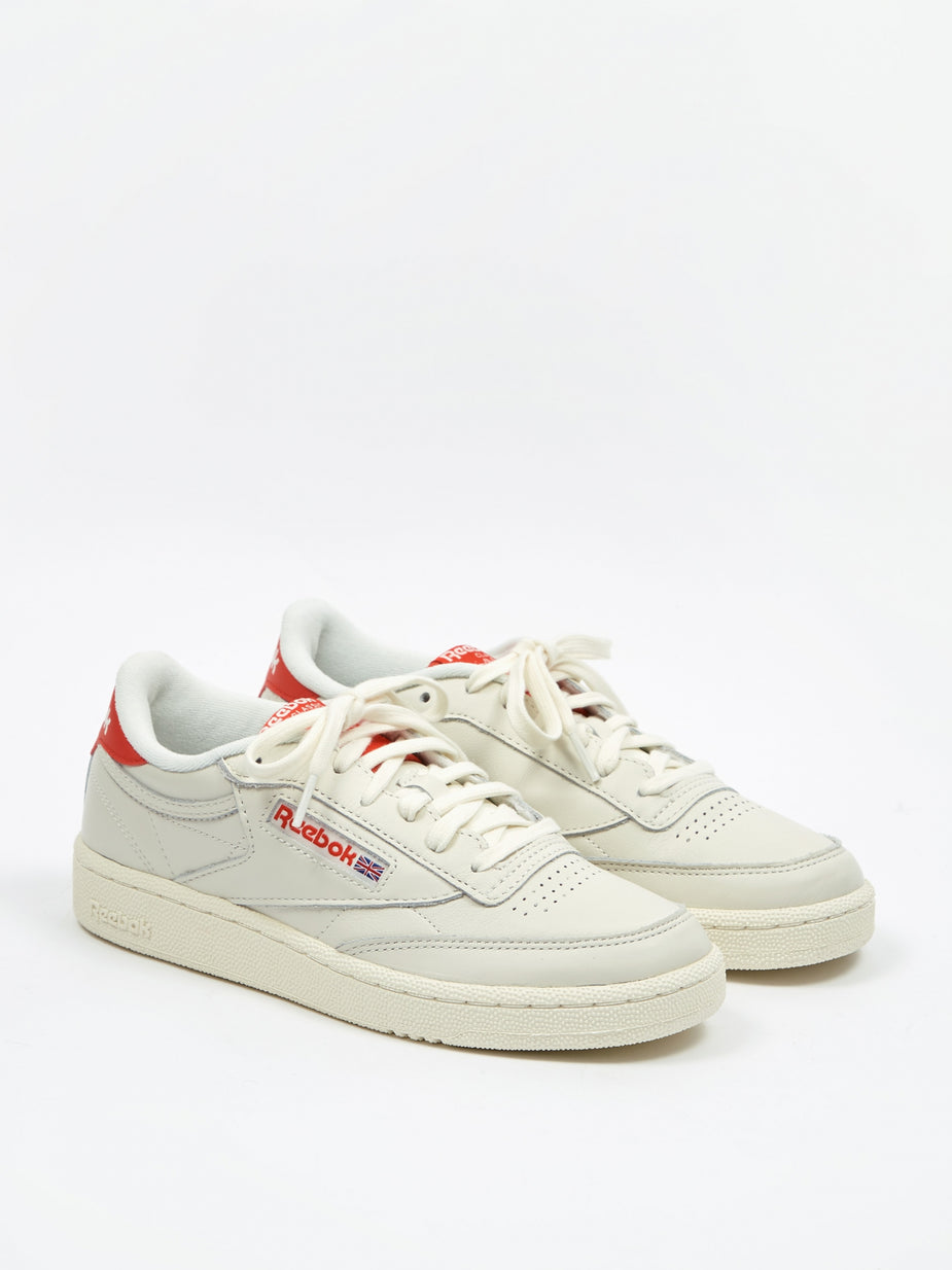 Reebok Reebok Club C 85 MU - Chalk/Radiant Red/Humble Blue - Red