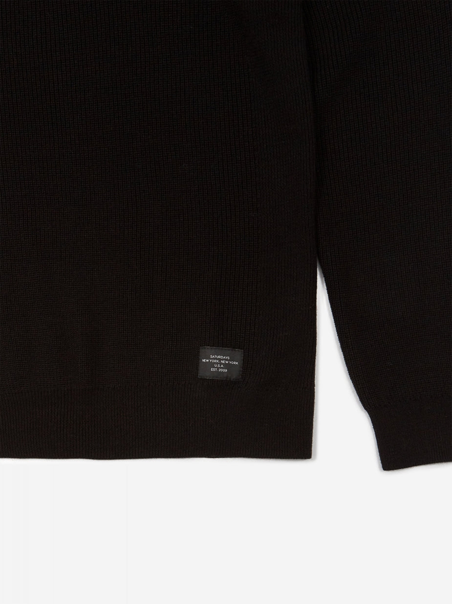 Saturdays NYC Saturdays NYC Everyday Classic Jumper - Black - Black