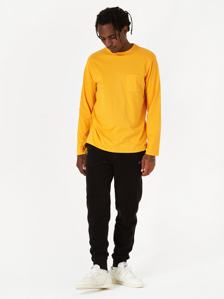 Saturdays NYC Saturdays NYC James Pima Longsleeve T-Shirt - Saffron - Other