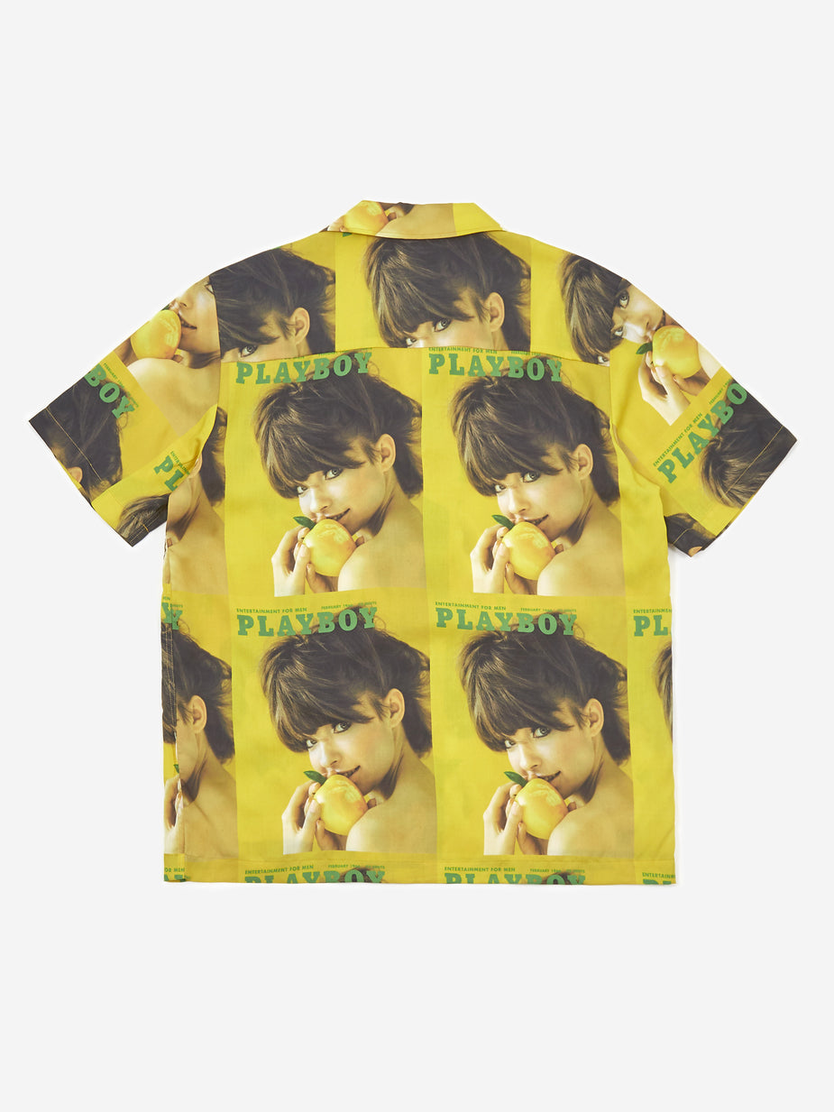 Soulland Soulland Orson Playboy Shortsleeve Shirt - Yellow - Yellow