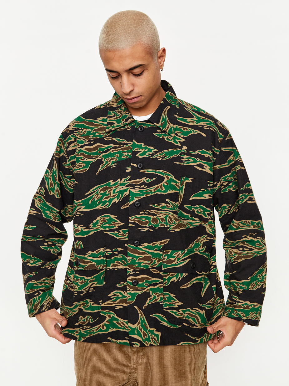 South2 West8 South2 West8 Hunting Shirt - Tiger - Multi