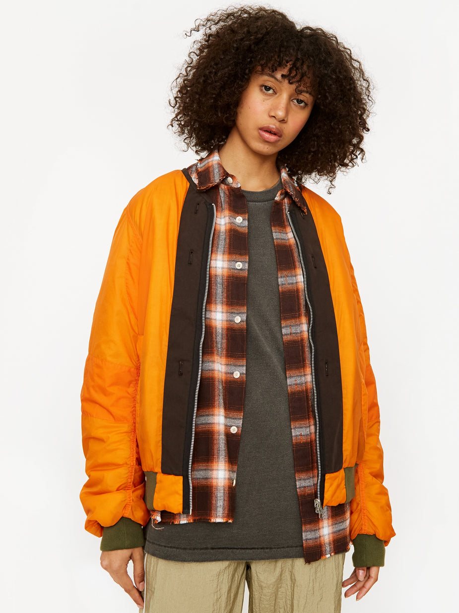 Stand Alone Stand Alone Bomber Jacket - Orange - Orange