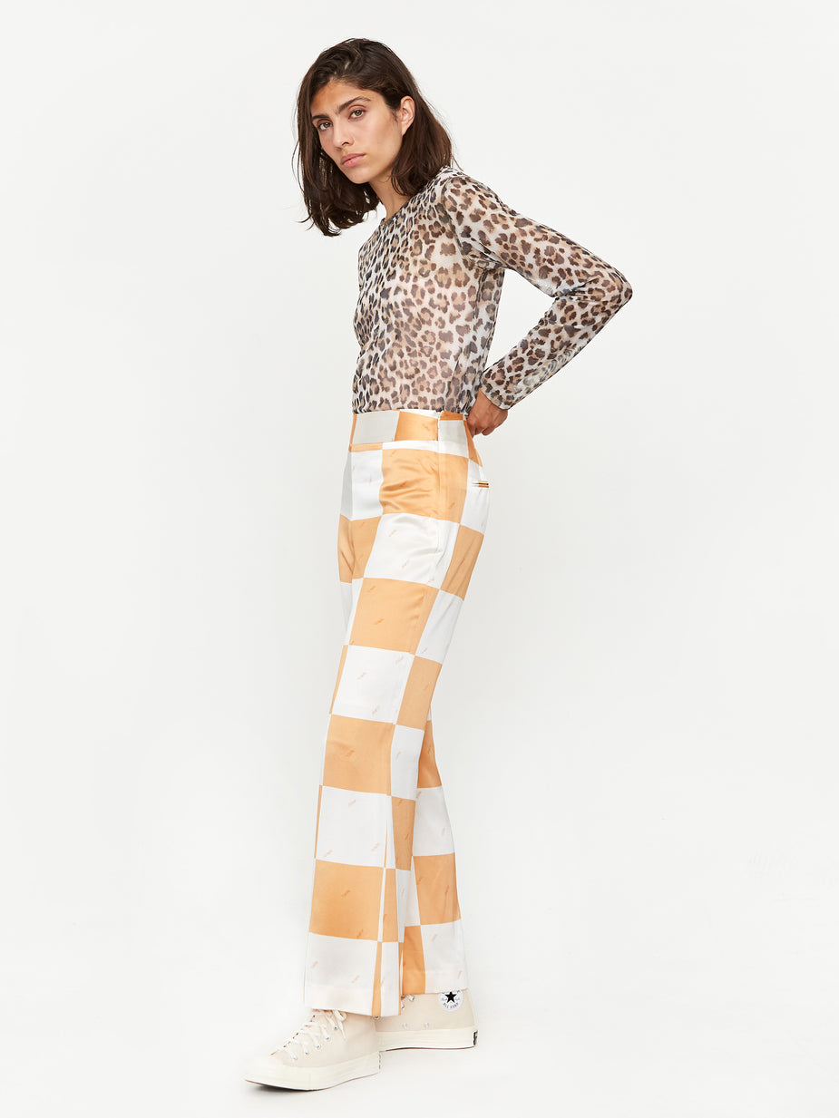 Stand Alone Stand Alone Checkerboard Pant - Orange - Orange