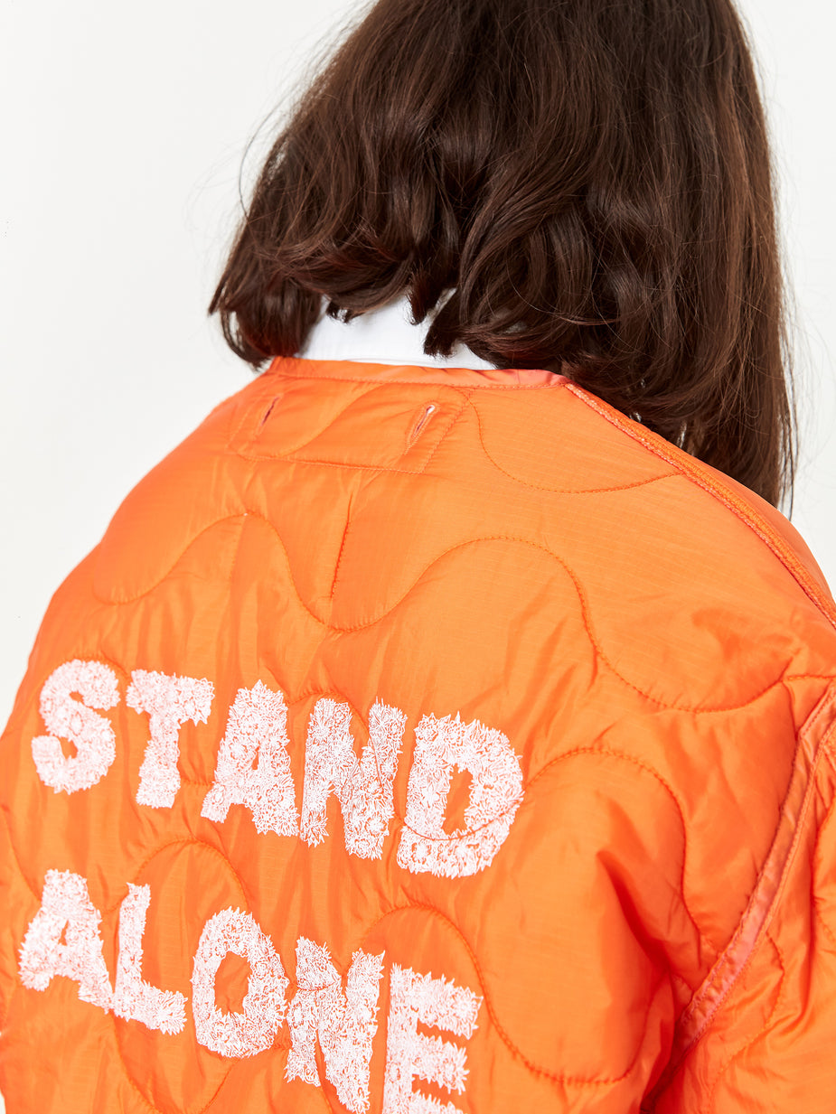 Stand Alone Stand Alone Logo Liner Jacket - Orange - Orange