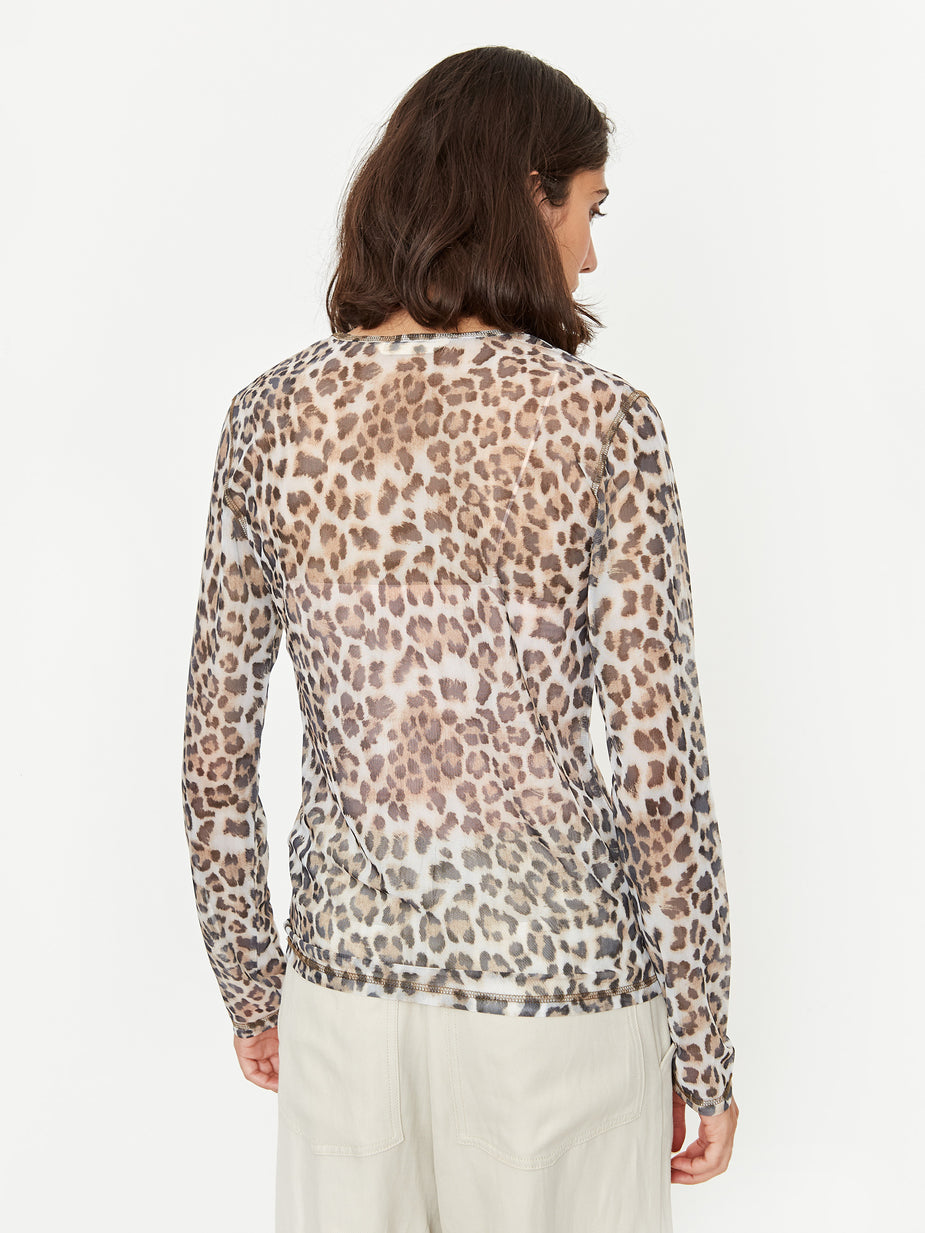 Stand Alone Stand Alone Longsleeve Mesh Top - Brown - Brown