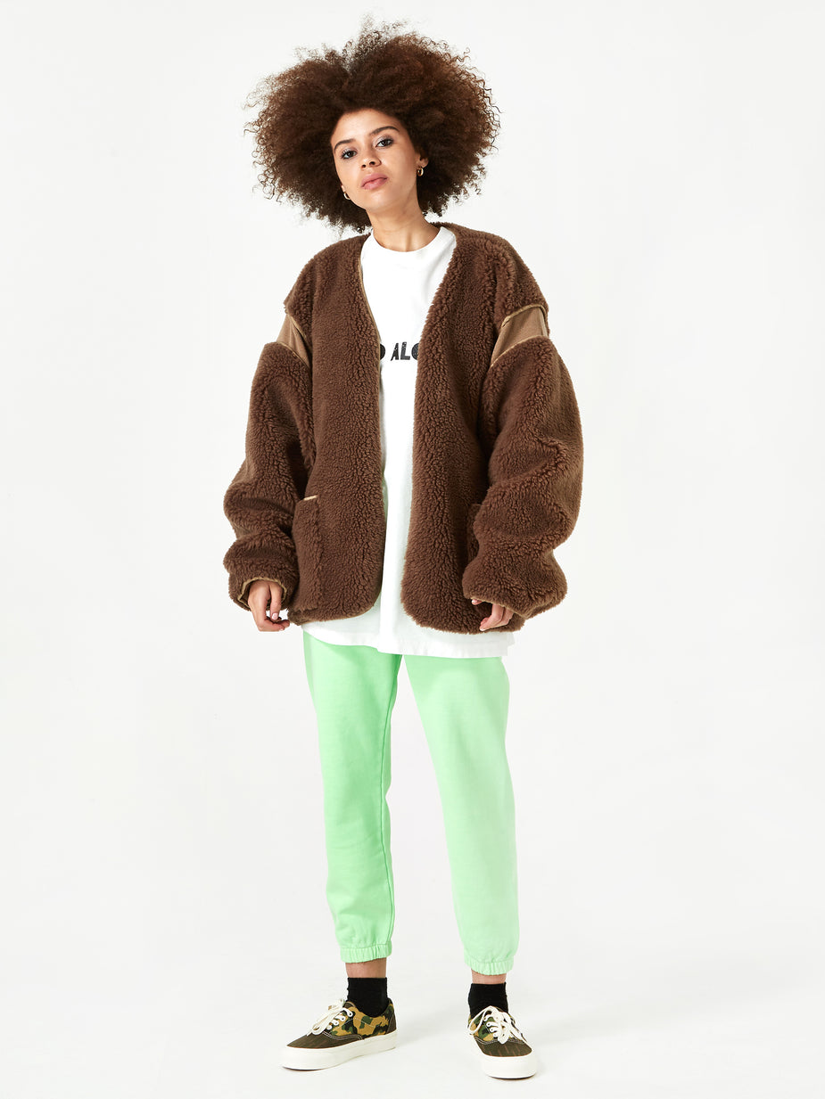 Stand Alone Stand Alone Fur Jacket - Brown Fur - Brown