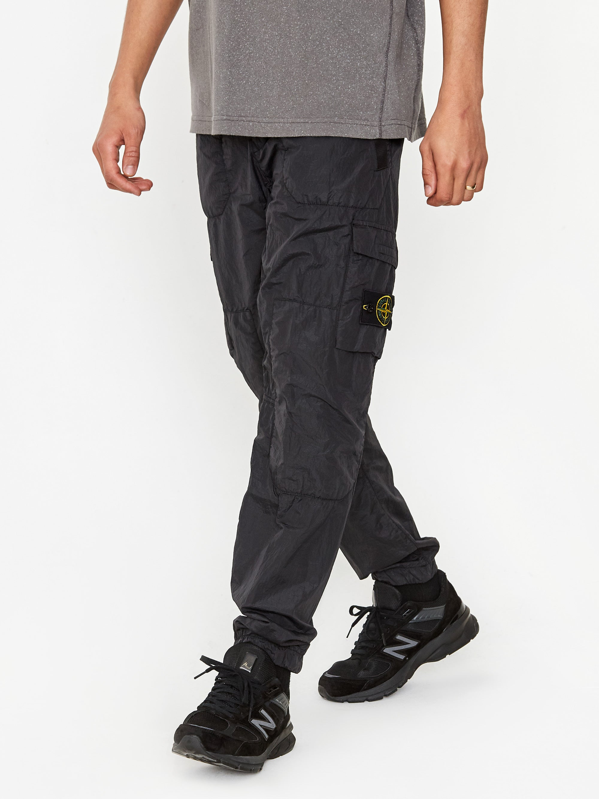 Stone Island Seersucker Trouser Black Goodhood