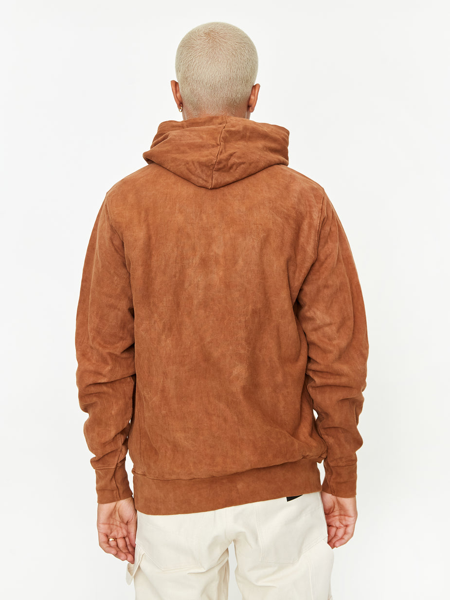 STORY mfg. Story MFG Bloom Hoodie - Bark forage For Wisdom - Brown
