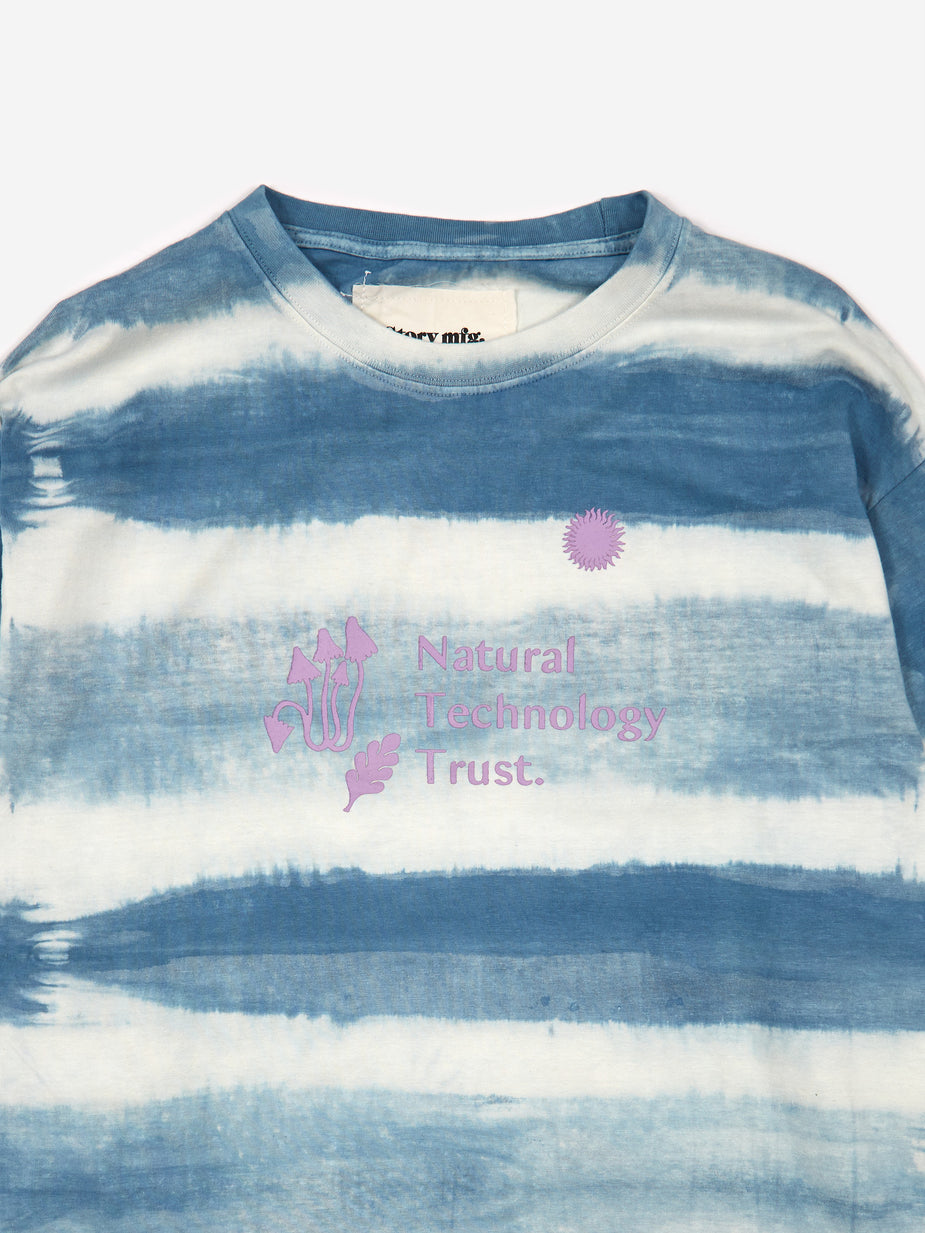 STORY mfg. STORY mfg. Grateful Longsleeve T-Shirt - Indigo Stripe - Blue