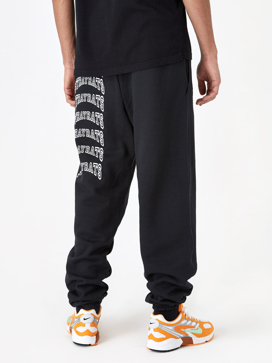 Stray Rats Stray Rats College Arch Logo Sweatpant - Black - Black