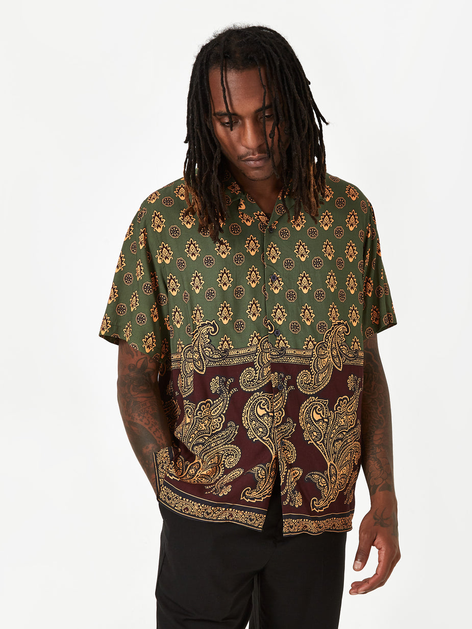 Stussy Stussy Block Paisley Shirt - Burgundy - Red
