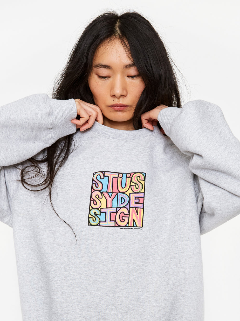 Stussy Stussy Clyde Crewneck Sweatshirt - Ash Heather - Grey