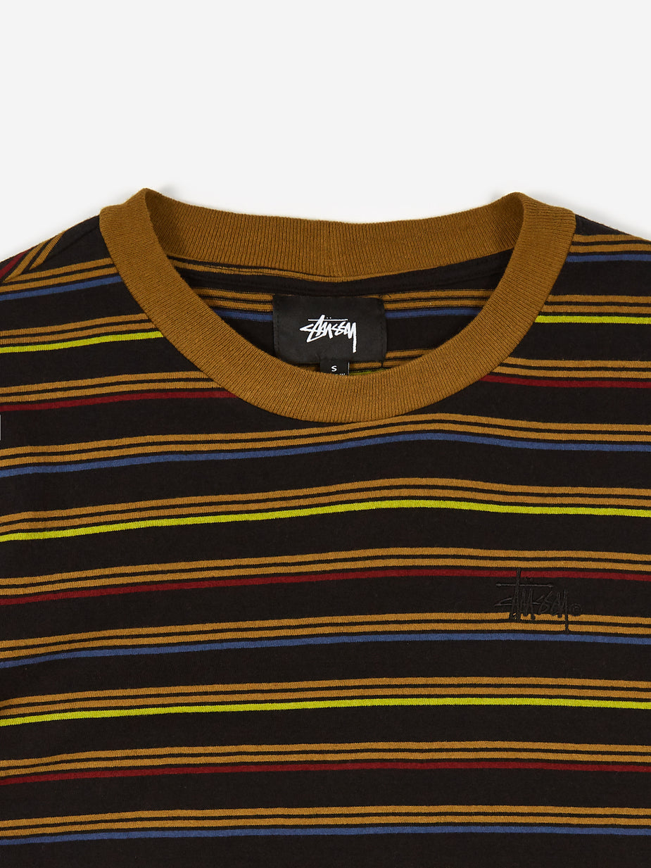 Stussy Stussy Cruz Stripe Cropped T-Shirt - Black - Black