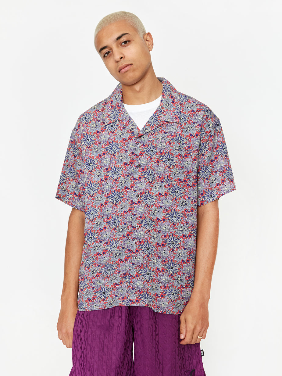 Stussy Stussy Floral Print Shirt - Red - Red