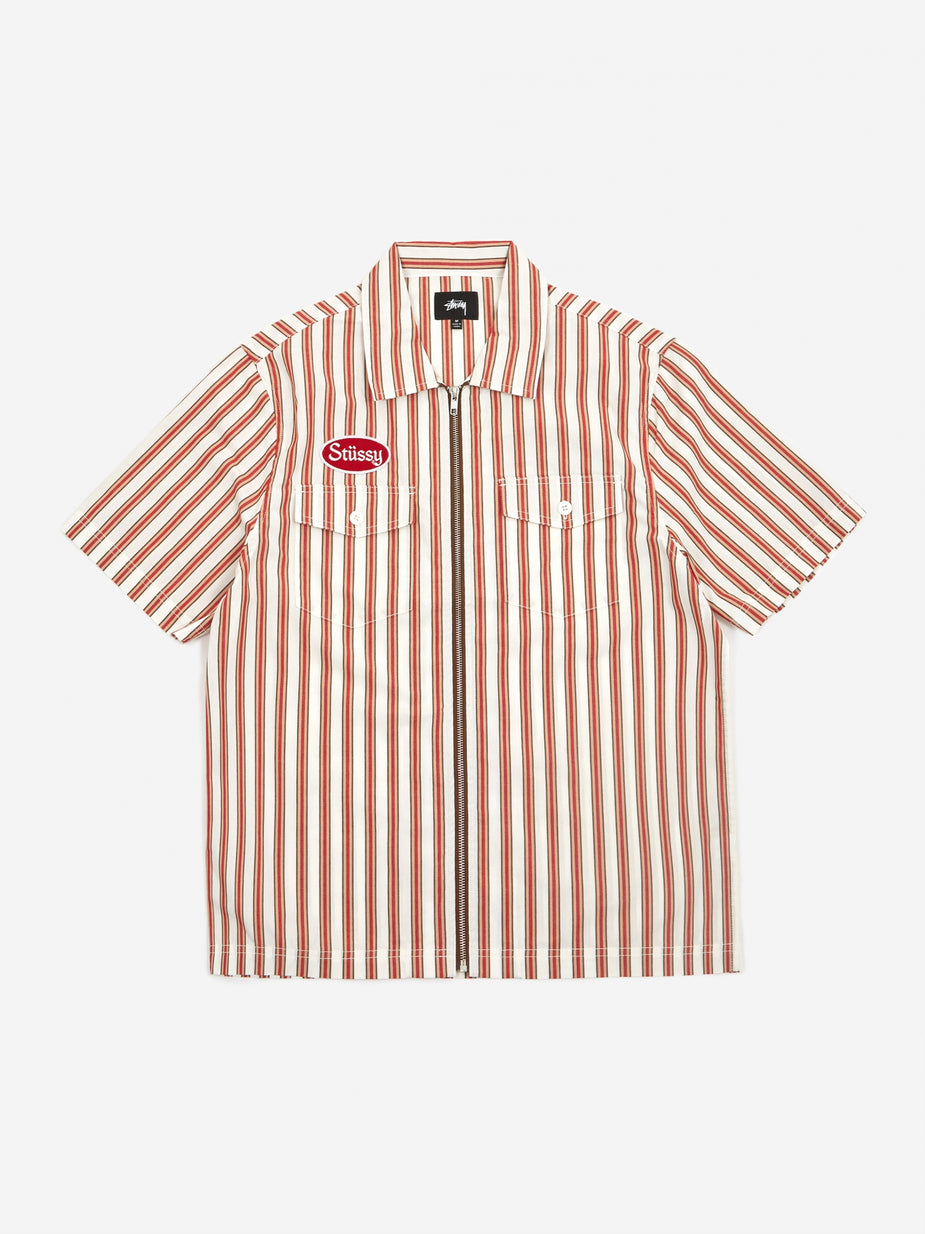 Stussy Stussy Garage Zip Up Shirt - Stripe - Other