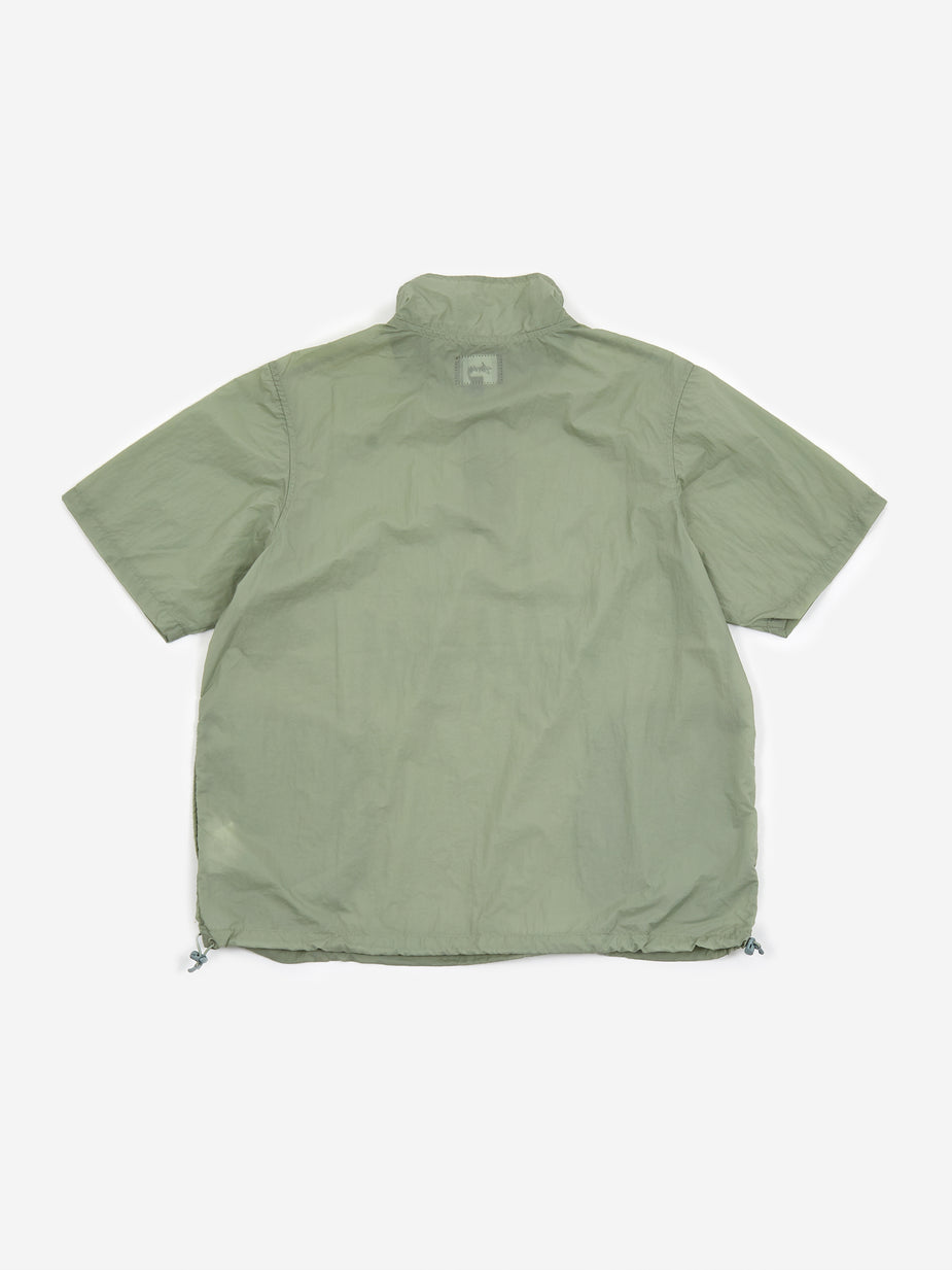 Stussy Stussy Nylon Warm Up Shell Jacket - Sage - Green