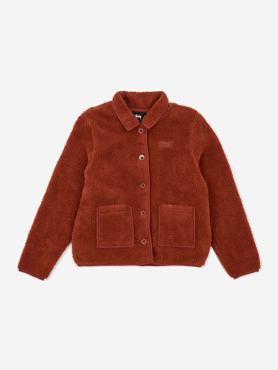 Stussy Stussy Sherpa Button Down Jacket - Clay - Other