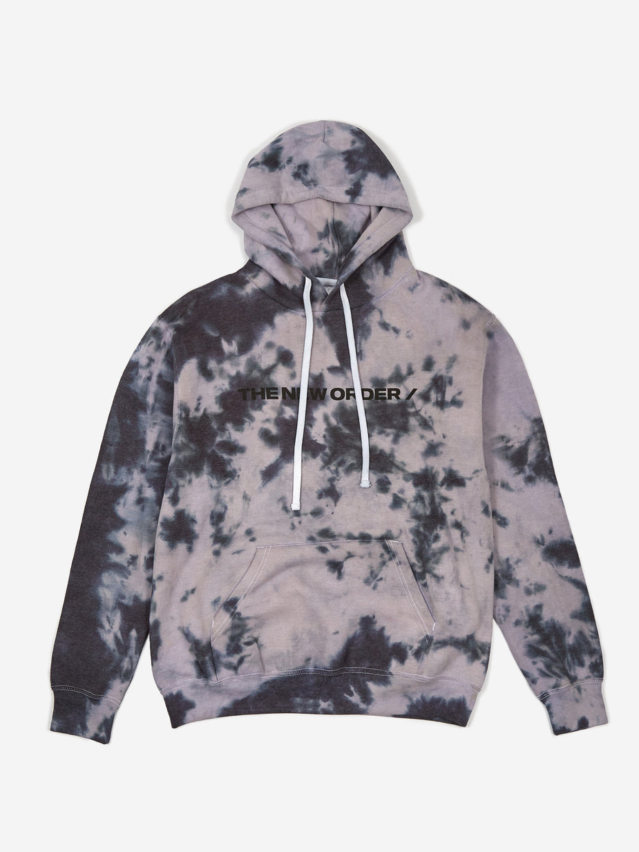 The New Order The New Order Basic Logo Hooded Sweatshirt - Tye Dye - Tie-Dye