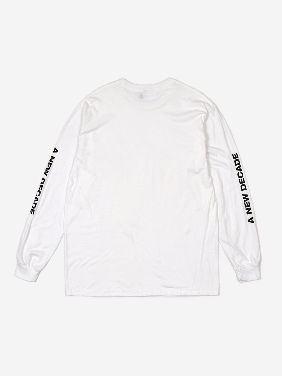The New Order The New Order Basic Logo Longsleeve T-Shirt - White - White