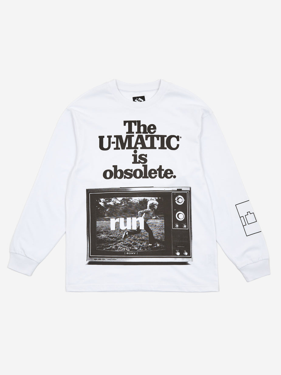 The Trilogy Tapes The Trilogy Tapes U-Matic Longsleeve T-Shirt - White - White