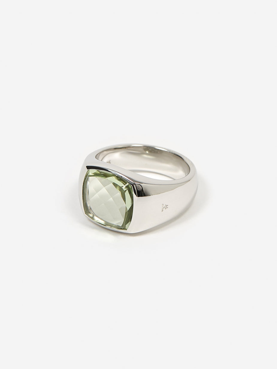 Tom Wood Tom Wood Shelby Ring - Green Quartz - Green