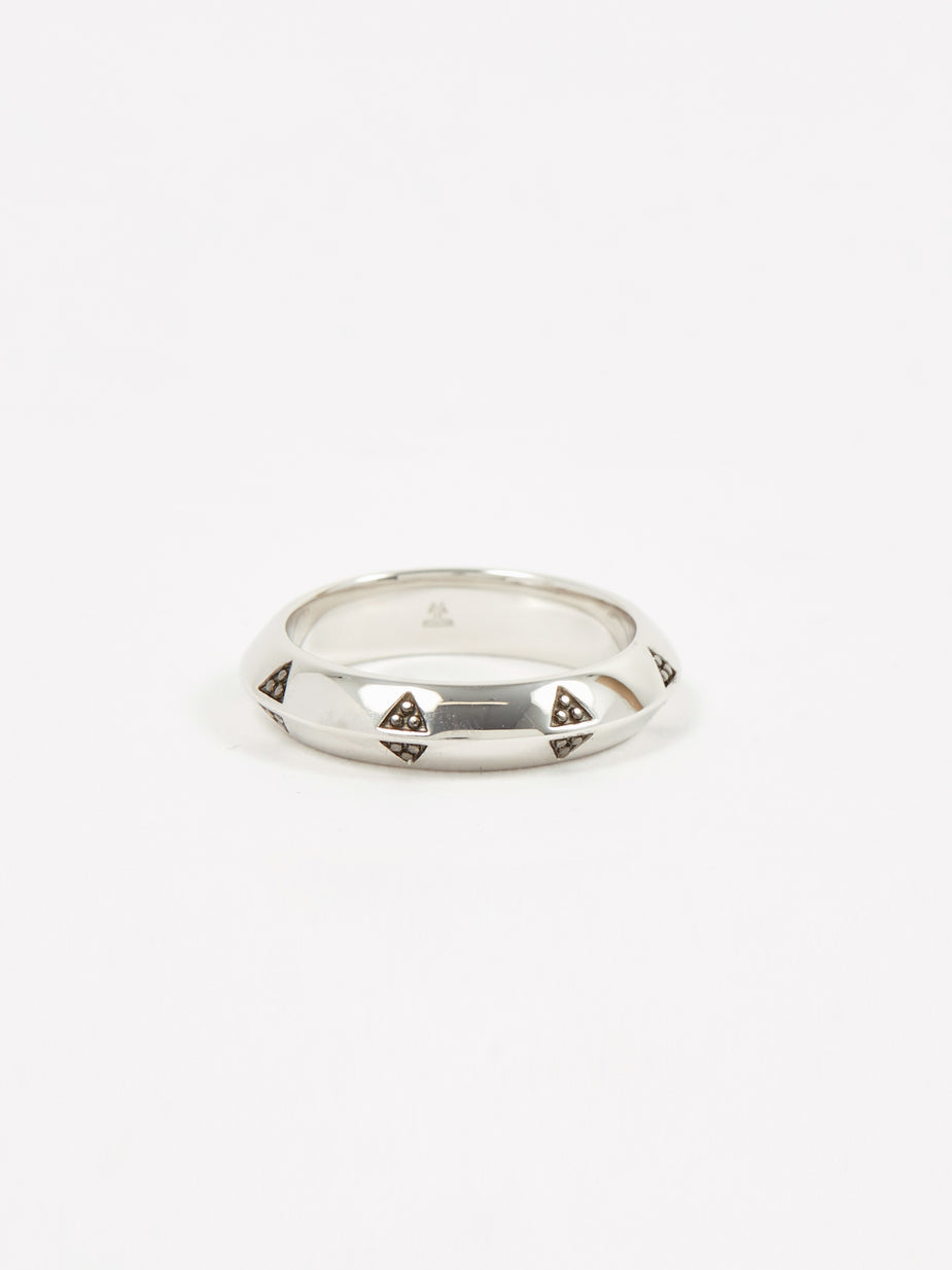 Tom Wood Tom Wood Viking Band Ring - Sterling Silver - Silver
