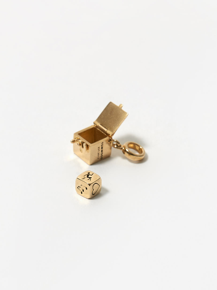 Tom Wood Tom Wood Box Charm - Gold - Gold