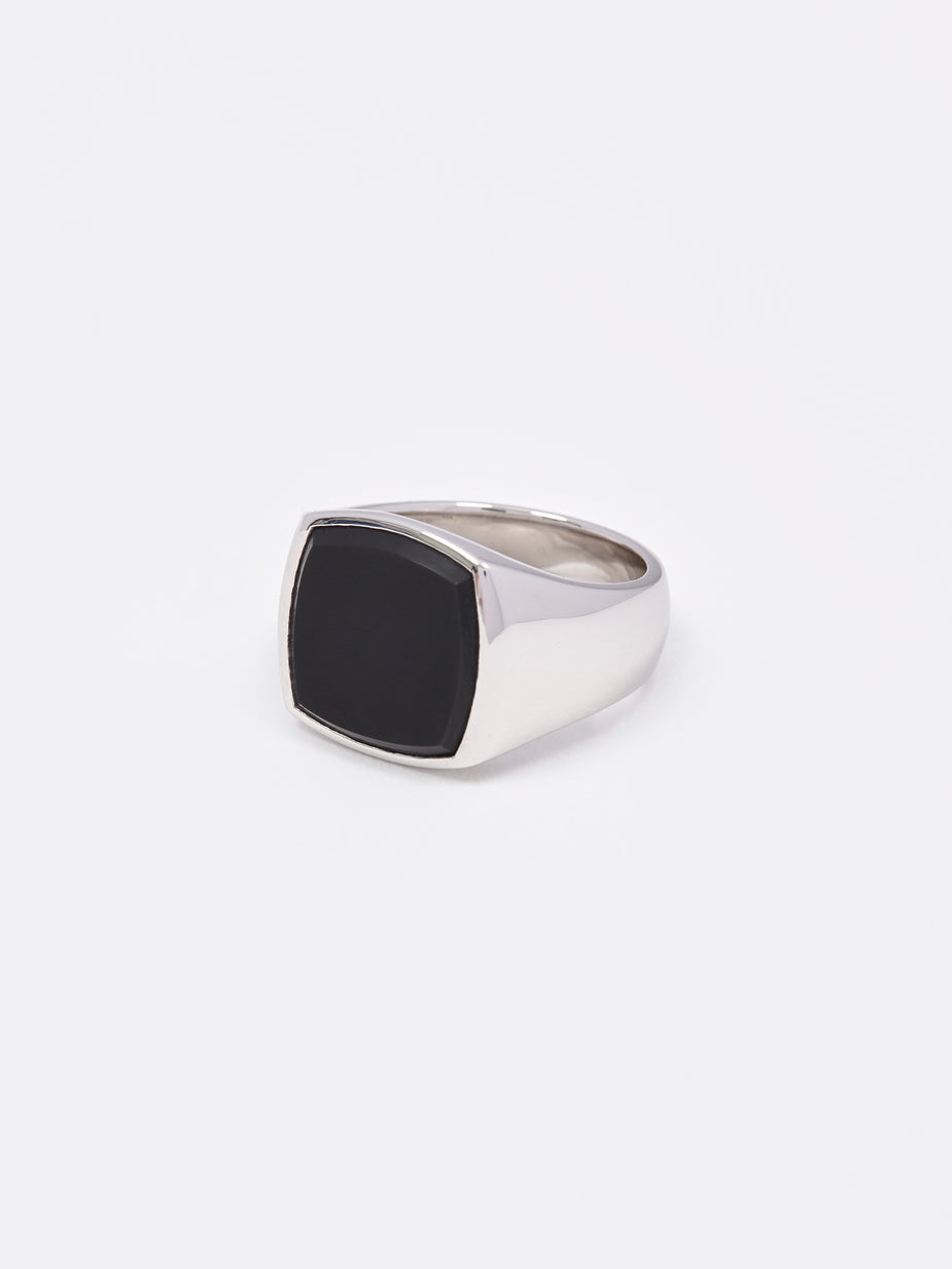 Tom Wood Tom Wood Cushion Ring - Black Onyx - Silver