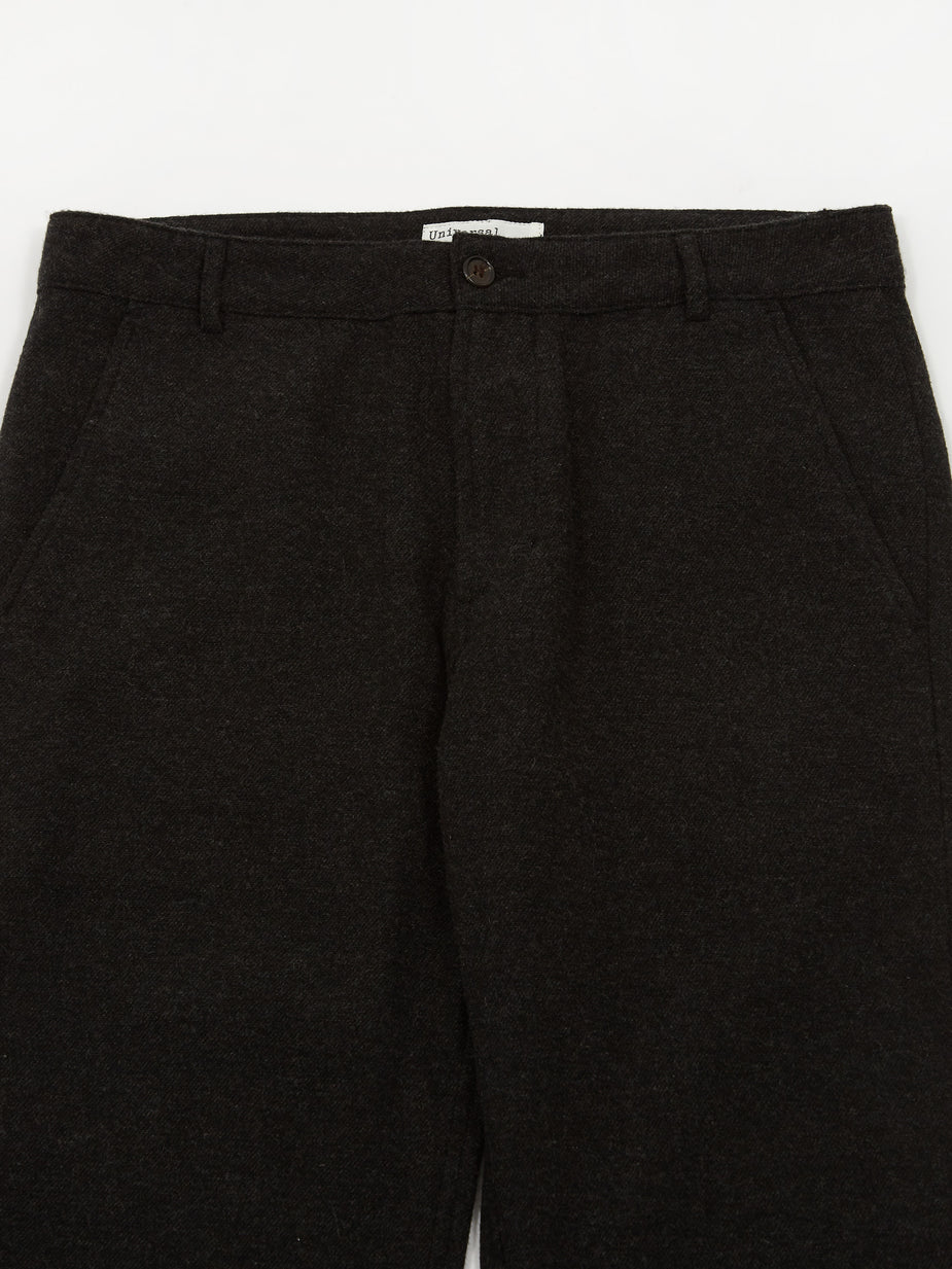 Universal Works Universal Works Aston Pant Wool Marl - Charcoal - Grey