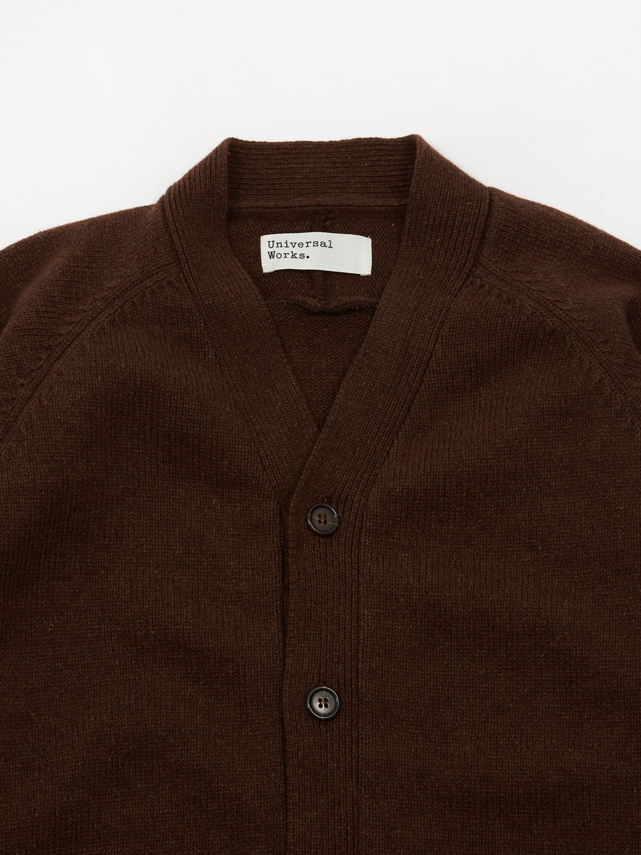 Universal Works Universal Works Vince Cardigan - Chocolate - Brown