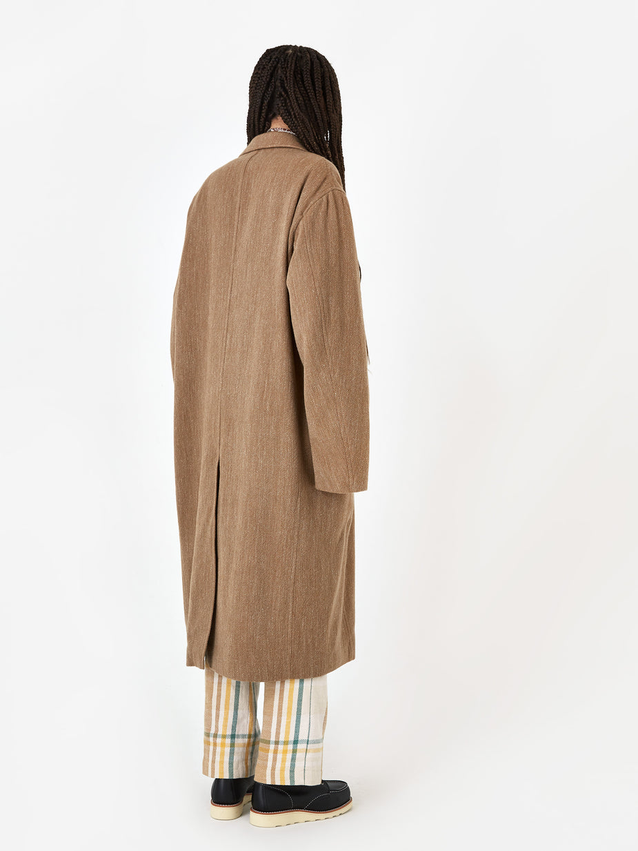 Unused Unused Oversized Coat - Beige - Other
