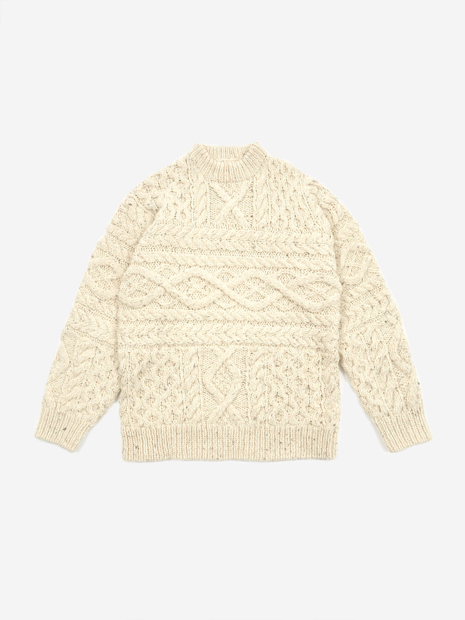 Unused Unused Oversized Knit Jumper - Off White