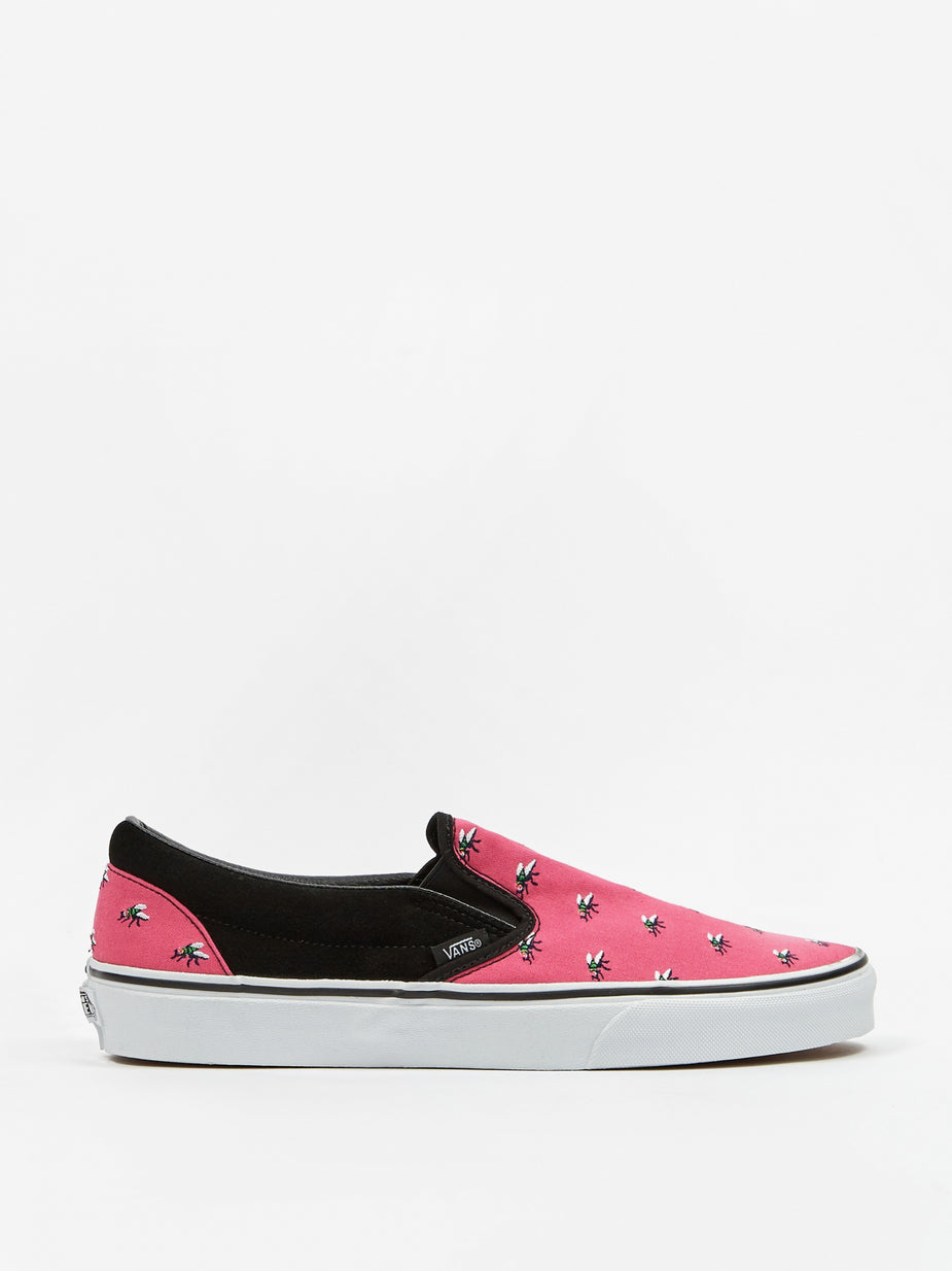 Vans Vans Classic Slip On - Trap Fly/Fuchsia/White - White
