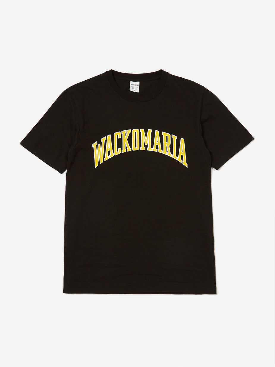 Wacko Maria Wacko Maria Washed Heavy Weight Crew Neck T-Shirt (Type 4) - Black - Black
