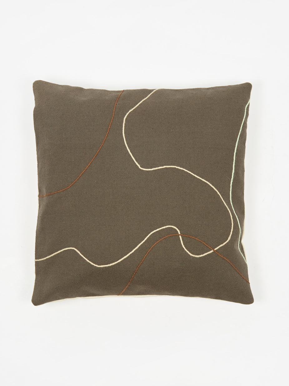 Way Down Home Way Down Home Sidewinder Cushion Cover - Charcoal - Grey