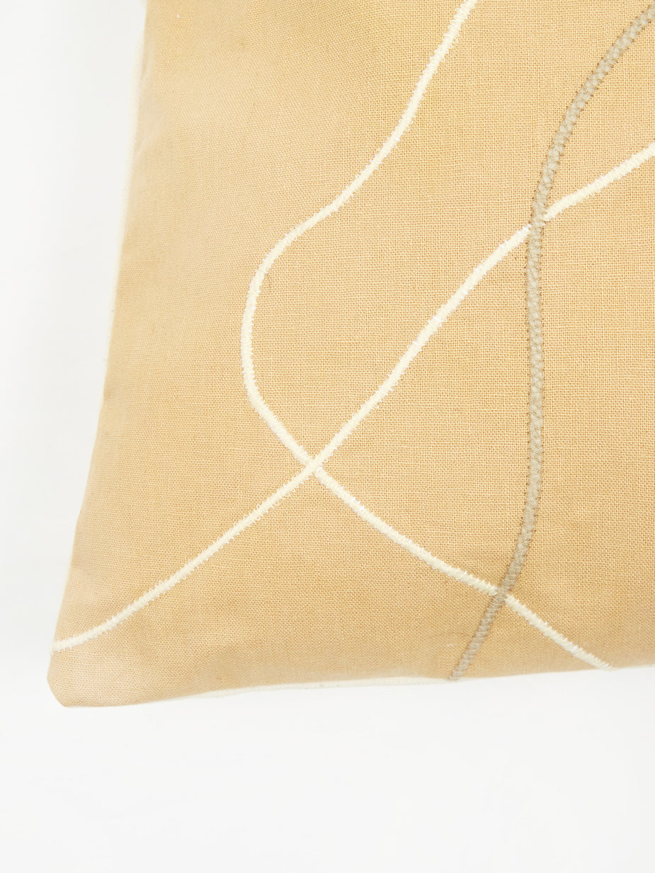 Way Down Home Way Down Home Sidewinder Cushion Cover - Taupe - Neutrals