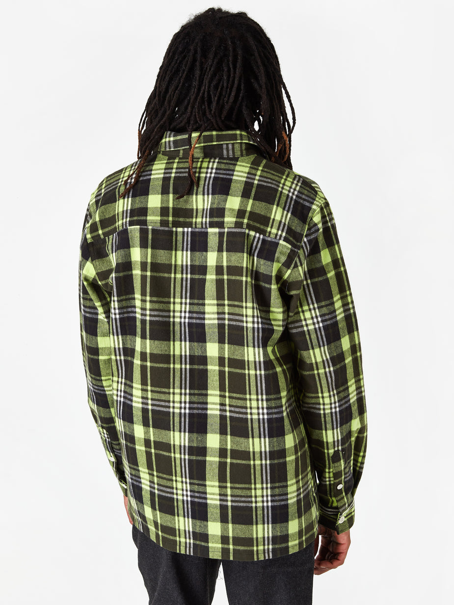 Wood Wood Wood Wood Franco Shirt - Green Check - Green