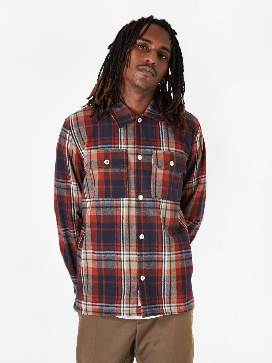 Wood Wood Wood Wood Franco Shirt - Rust Check - Check