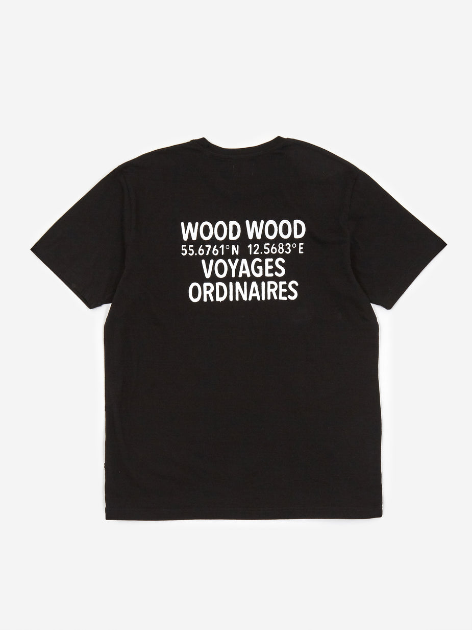 Wood Wood Wood Wood Voyages Shortsleeve T-Shirt - Black - Black
