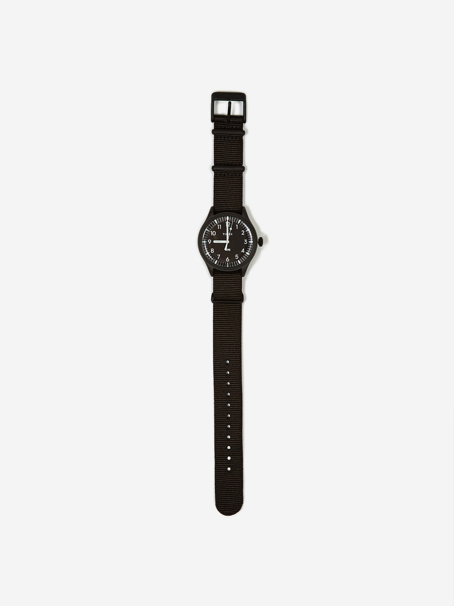 Wood Wood Wood Wood x Timex Waterbury 38mm Watch - Black/Black - Black