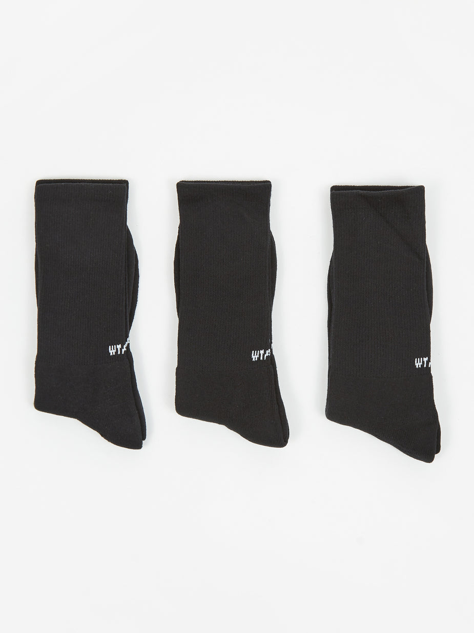 WTAPS WTAPS Skivvies 3 Pack Socks - Black - Black