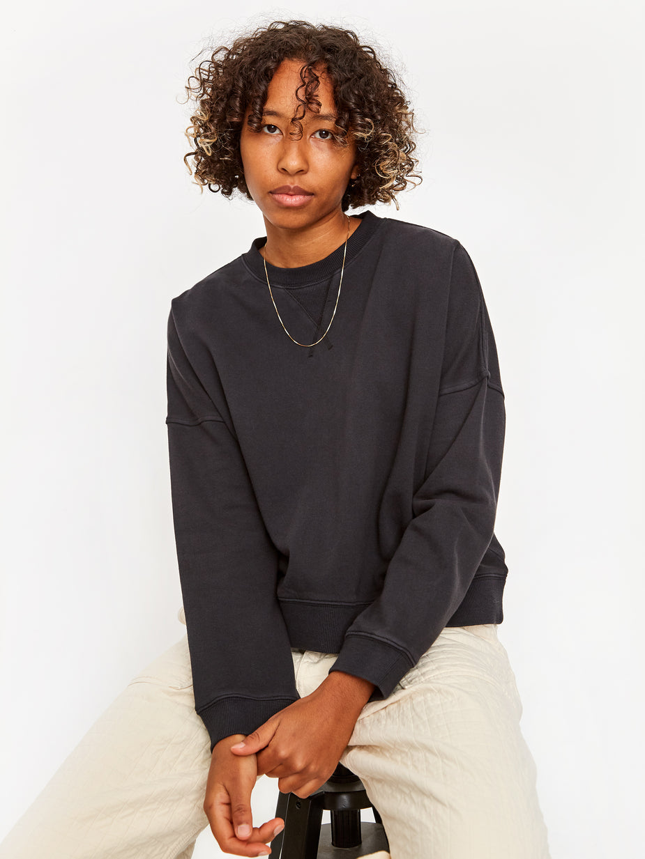 YMC YMC Almost Grown Crewneck Sweatshirt - Black - Black