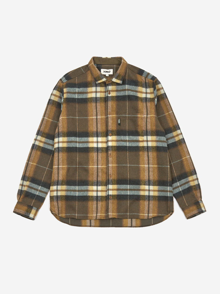 YMC YMC Curtis Shirt - Olive - Green