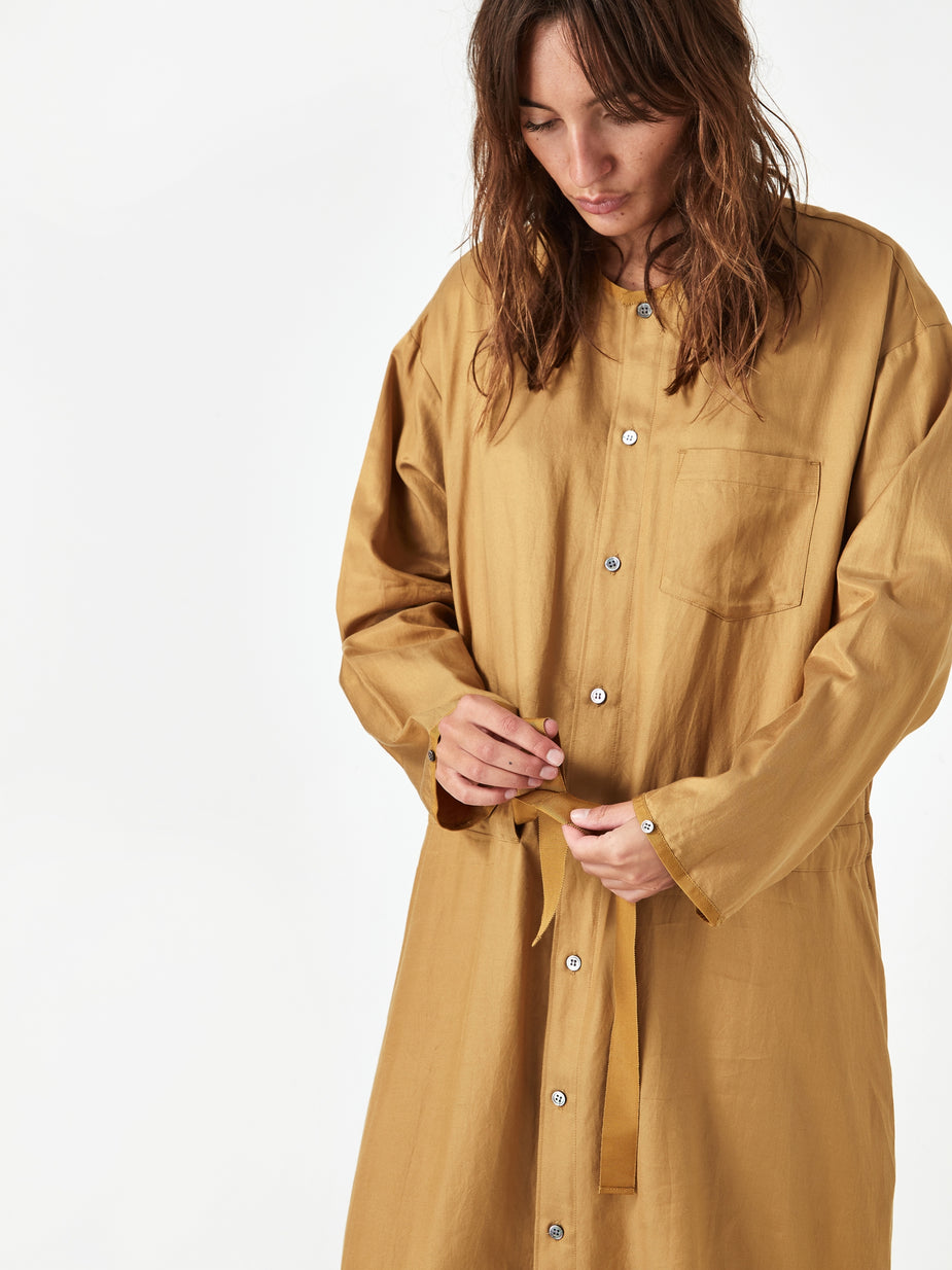 Zucca Zucca Cotton Rayon Twill Dress - Camel - Other