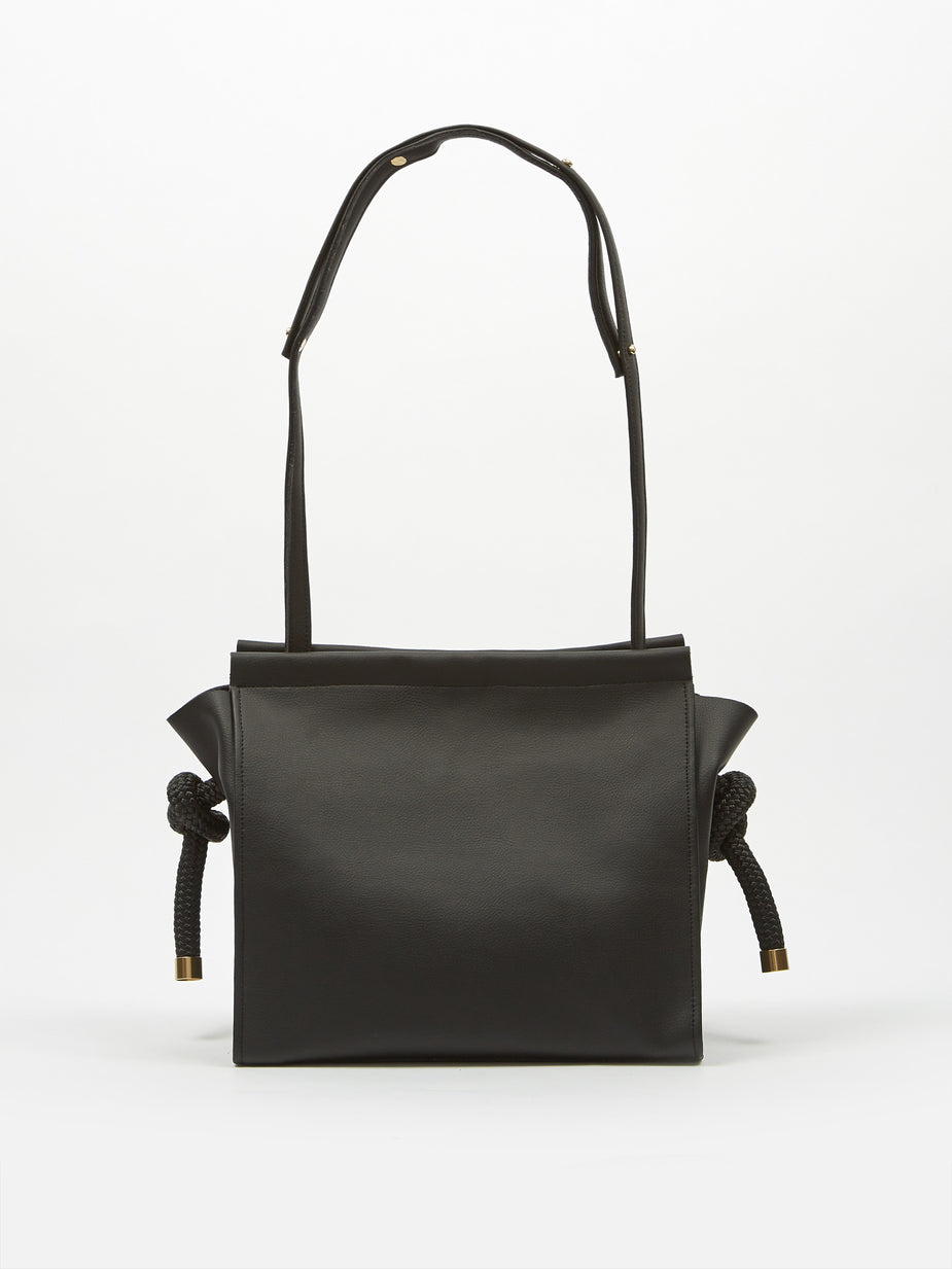 Zucca Zucca Recycled Leather Bag Medium - Black - Black