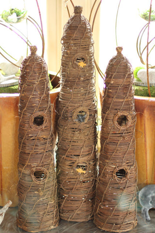 "Vine Bee Skep in 2 sizes - (Large 32"")"