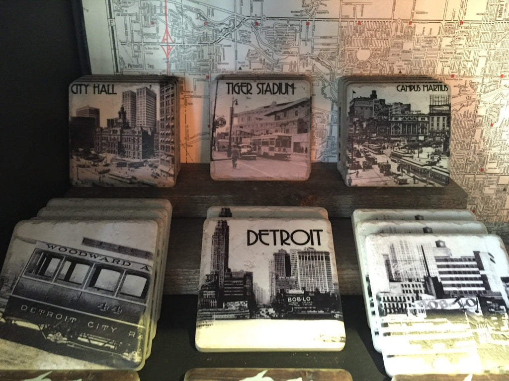 Detroit Themed Coasters