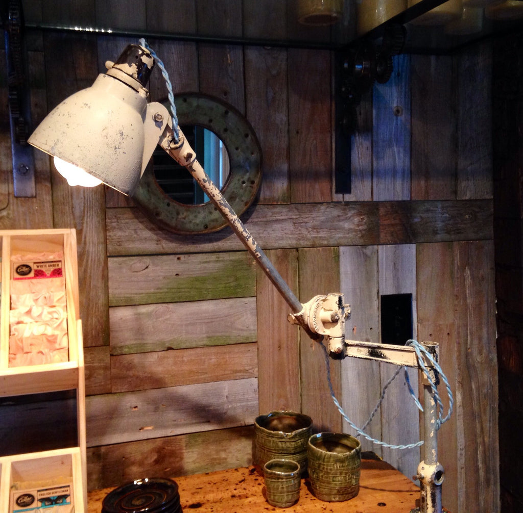 1940's Woodward Machine Co. Factory Machinist Task Lamp