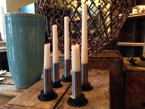 Industrial Candlestick Holder