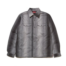 Load image into Gallery viewer, STRIPE FLANNEL SHIRT JACKET - BLACK